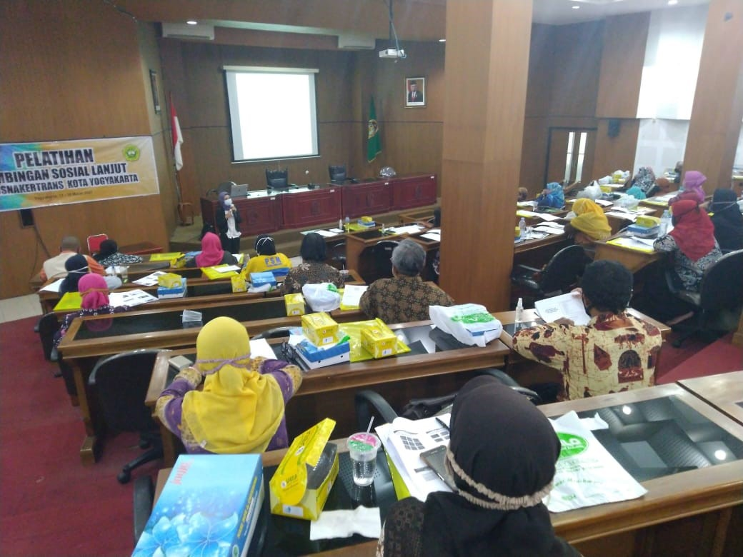 Pelatihan  Bimbingan Sosial Dasar dan Bimbingan Sosial Lanjut bagi Pekerja Sosial Masyarakat (PSM)